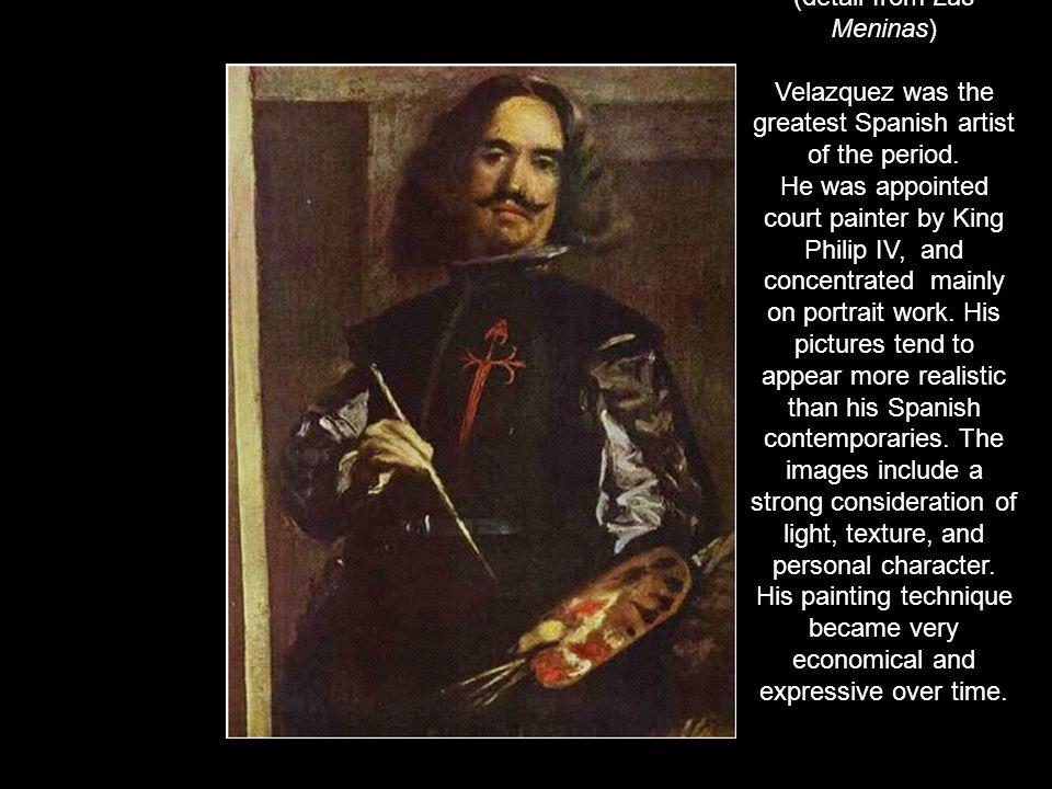 Diego Rodriguez de Silva y Velazquez (1599-1660) Self-portrait (detail from Las Meninas)