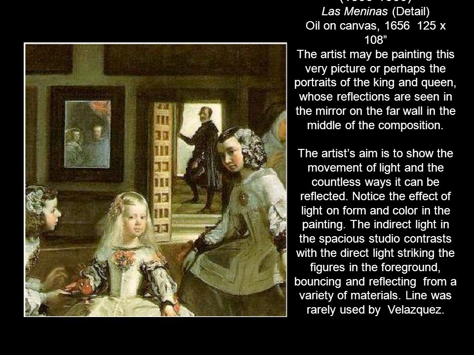 Diego Velazquez (1599-1660) Las Meninas (Detail)