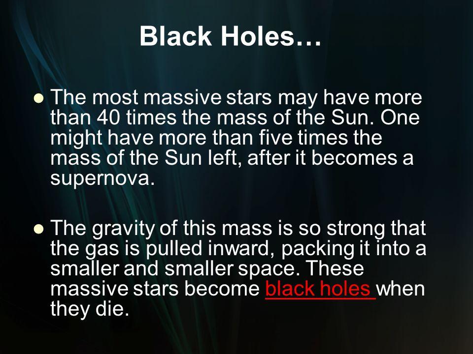 Black Holes…