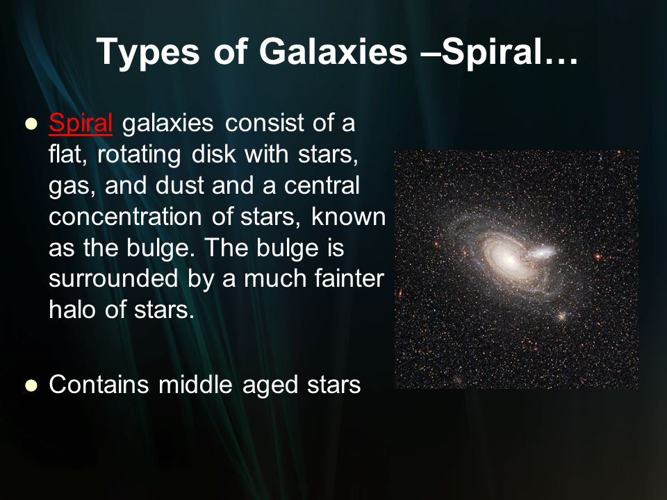 Types of Galaxies –Spiral…