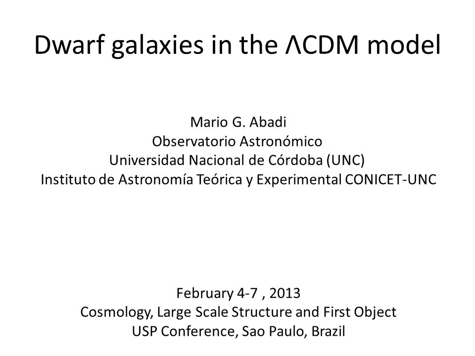 Dwarf galaxies in the ΛCDM model