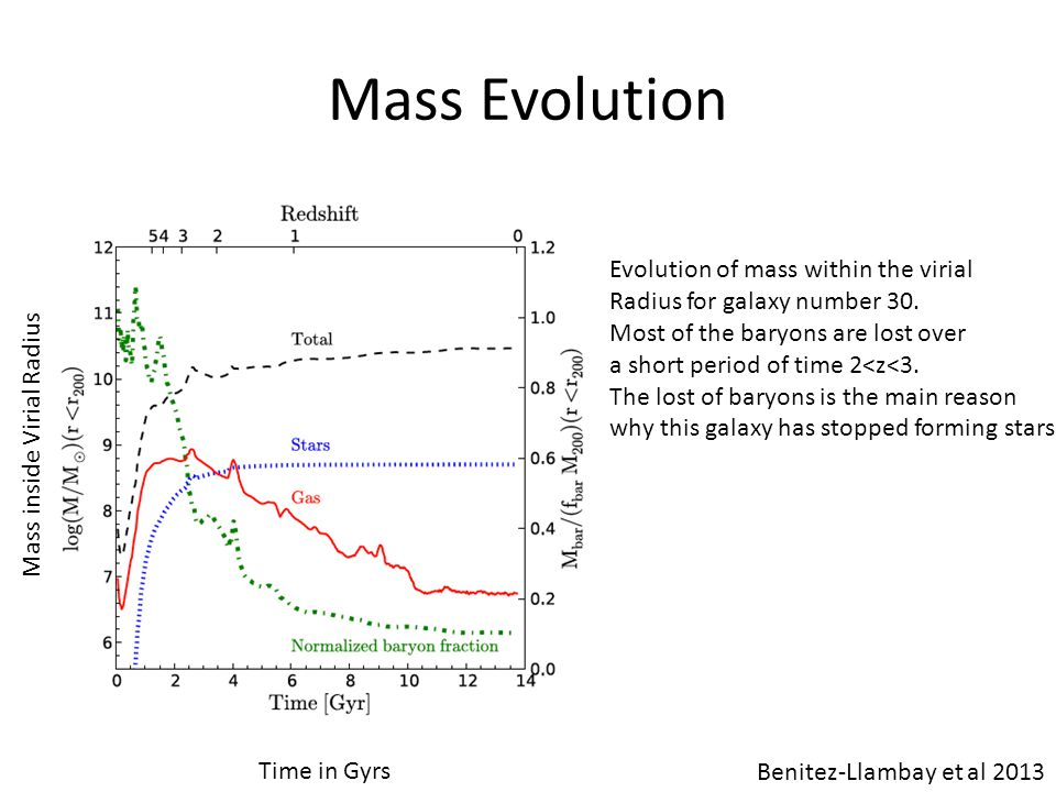 Mass Evolution Evolution of mass within the virial