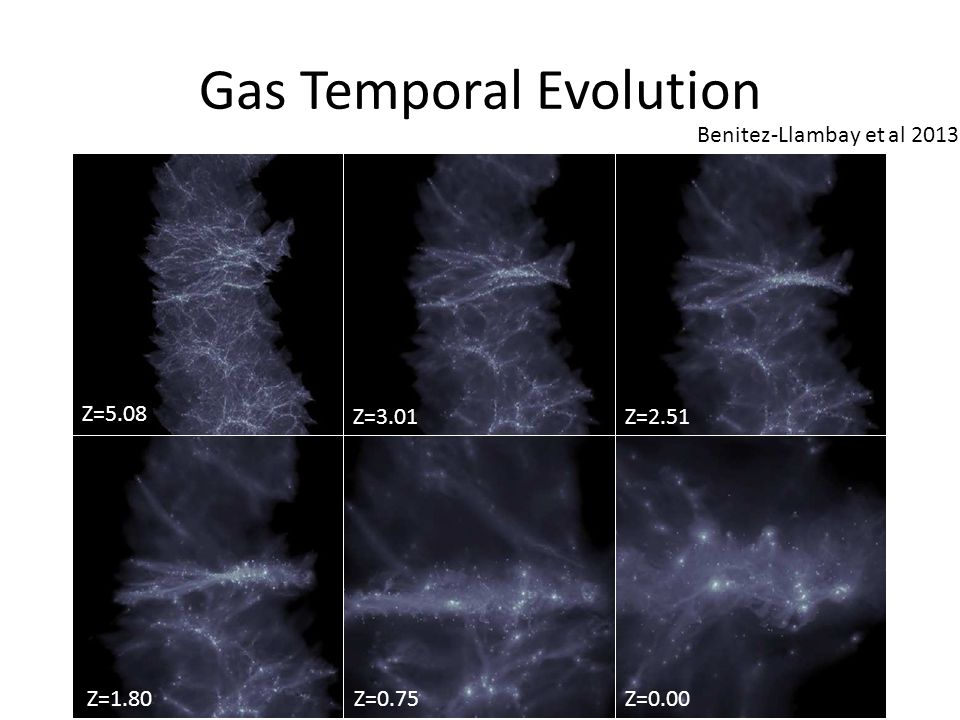 Gas Temporal Evolution