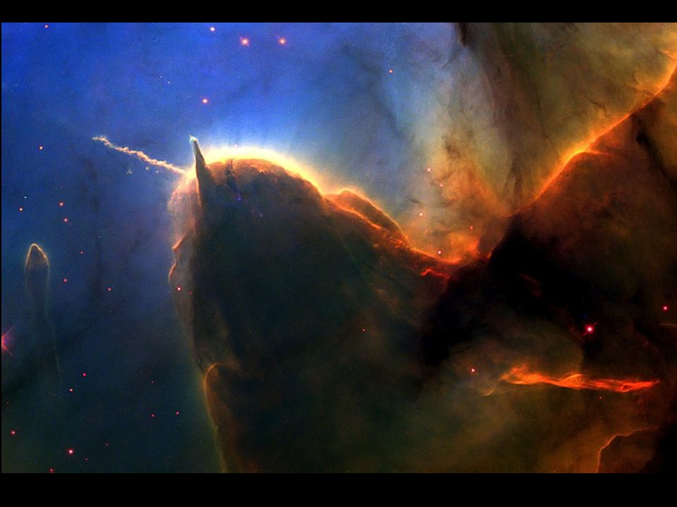 This Hubble Space Telescope image of the Trifid Nebula reveals a stellar nursery being torn apart by radiation from a nearby, massive star.