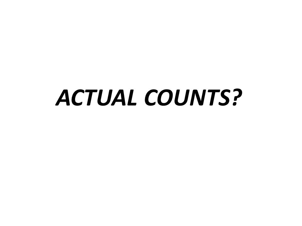 ACTUAL COUNTS