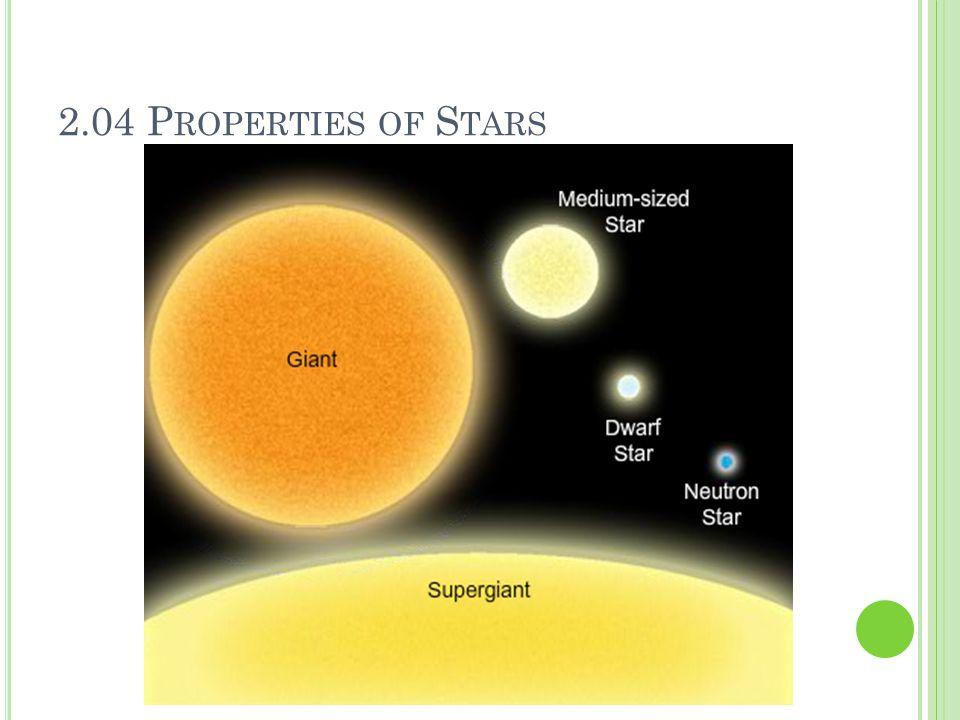 2.04 Properties of Stars