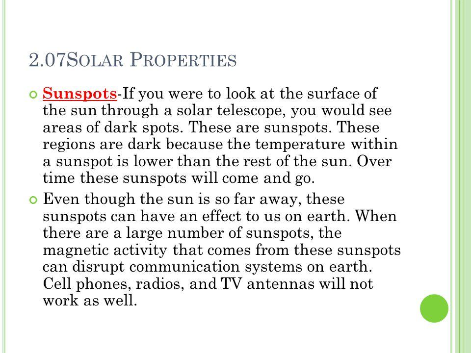 2.07Solar Properties