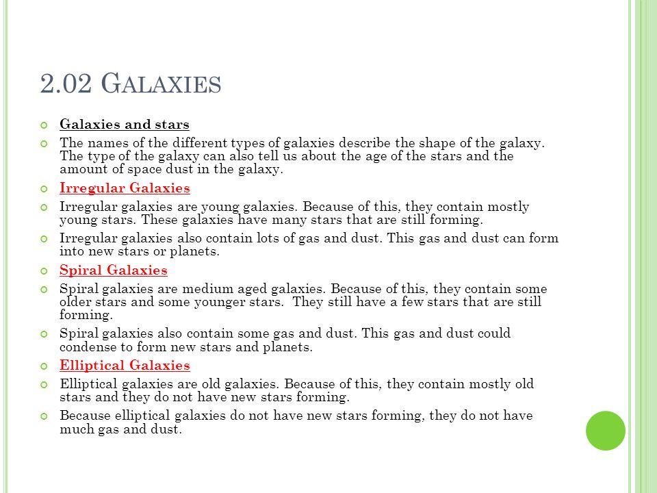 2.02 Galaxies Galaxies and stars