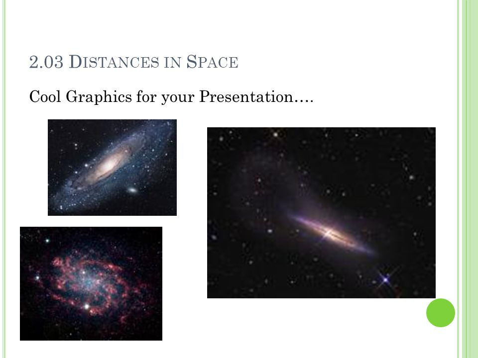 2.03 Distances in Space Cool Graphics for your Presentation….