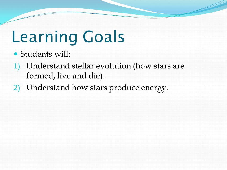 Learning Goals Students will: