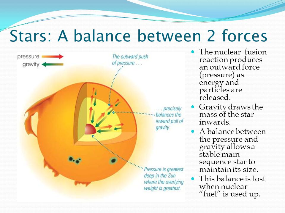 Stars: A balance between 2 forces