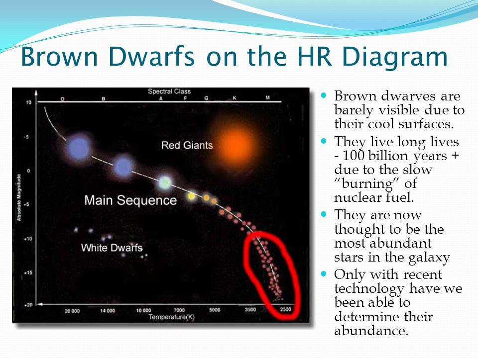 Brown Dwarfs on the HR Diagram