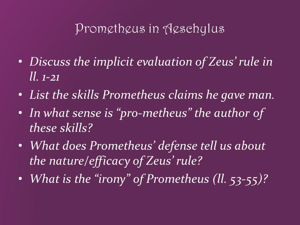 Prometheus in Aeschylus