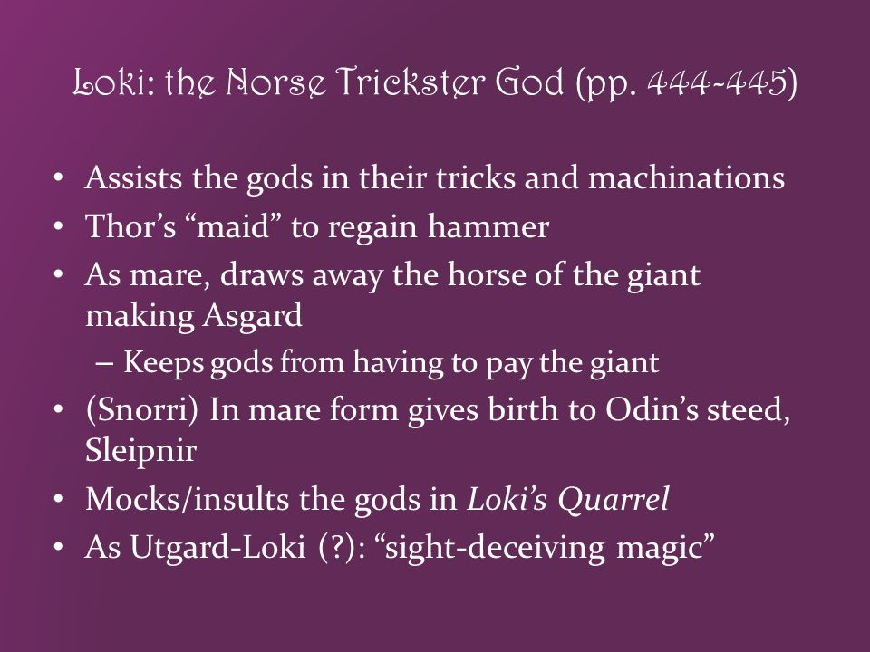 Loki: the Norse Trickster God (pp. 444-445)