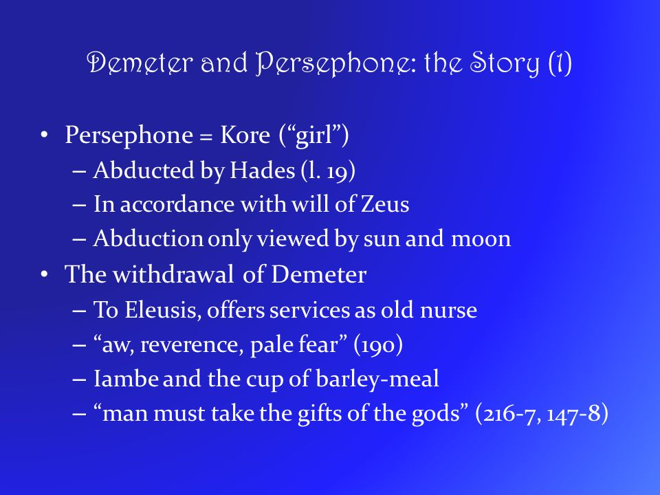 Demeter and Persephone: the Story (1)