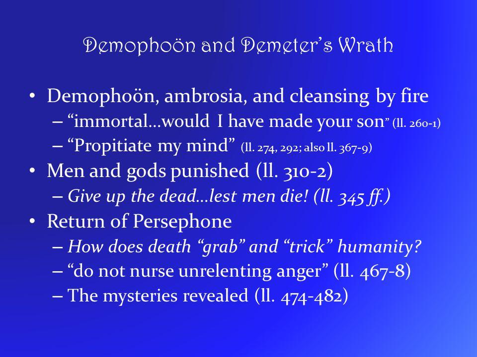 Demophoön and Demeter's Wrath