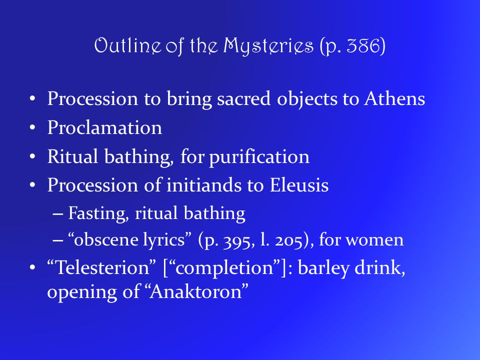 Outline of the Mysteries (p. 386)