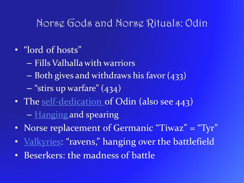 Norse Gods and Norse Rituals: Odin