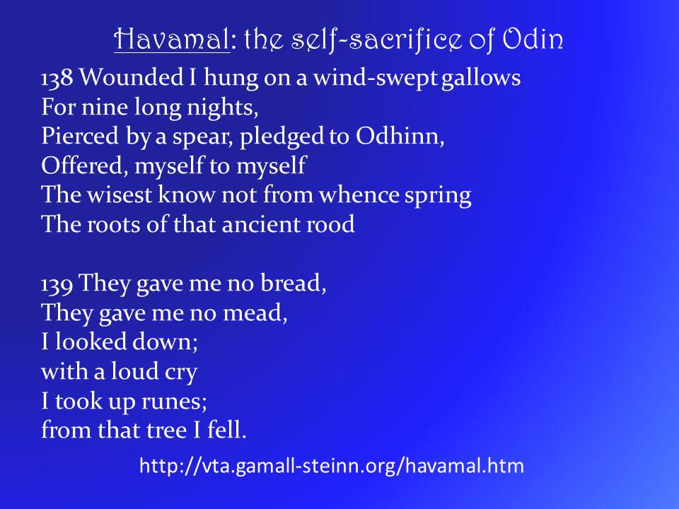 Havamal: the self-sacrifice of Odin