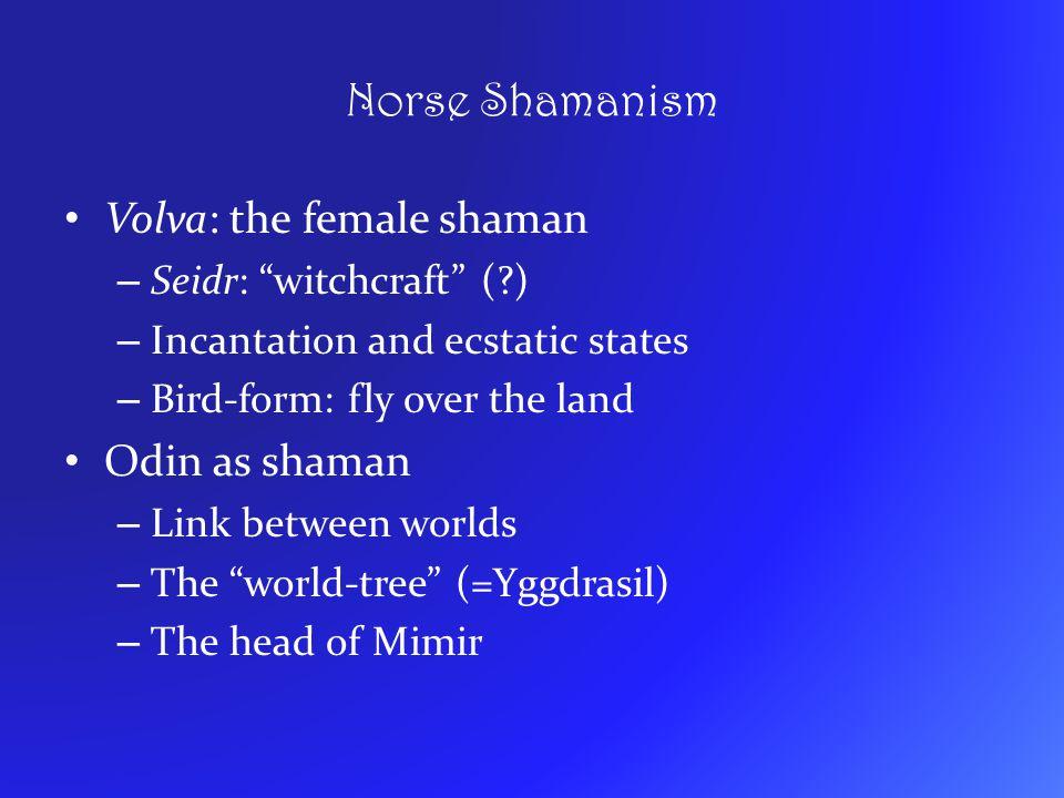 Norse Shamanism Volva: the female shaman Odin as shaman