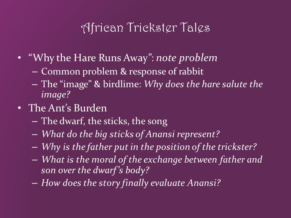 African Trickster Tales