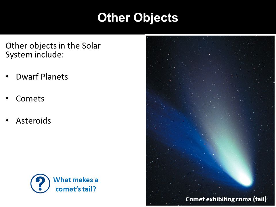 What makes a comet's tail
