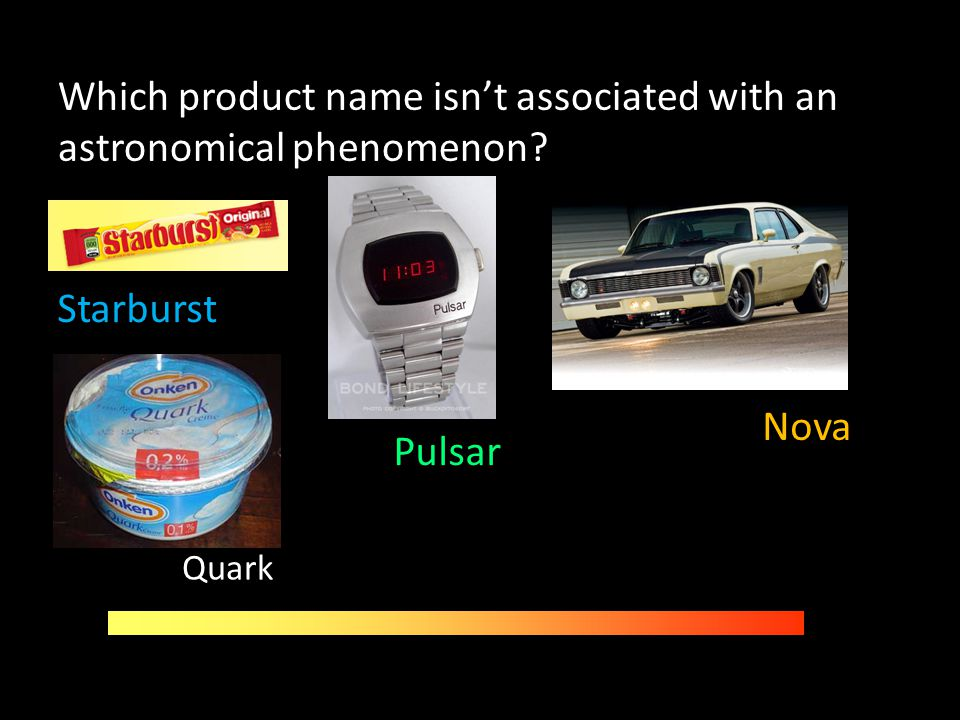 Which product name isn't associated with an astronomical phenomenon