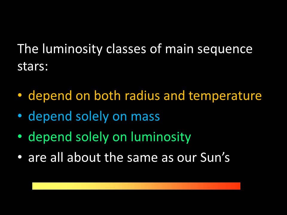 The luminosity classes of main sequence stars: