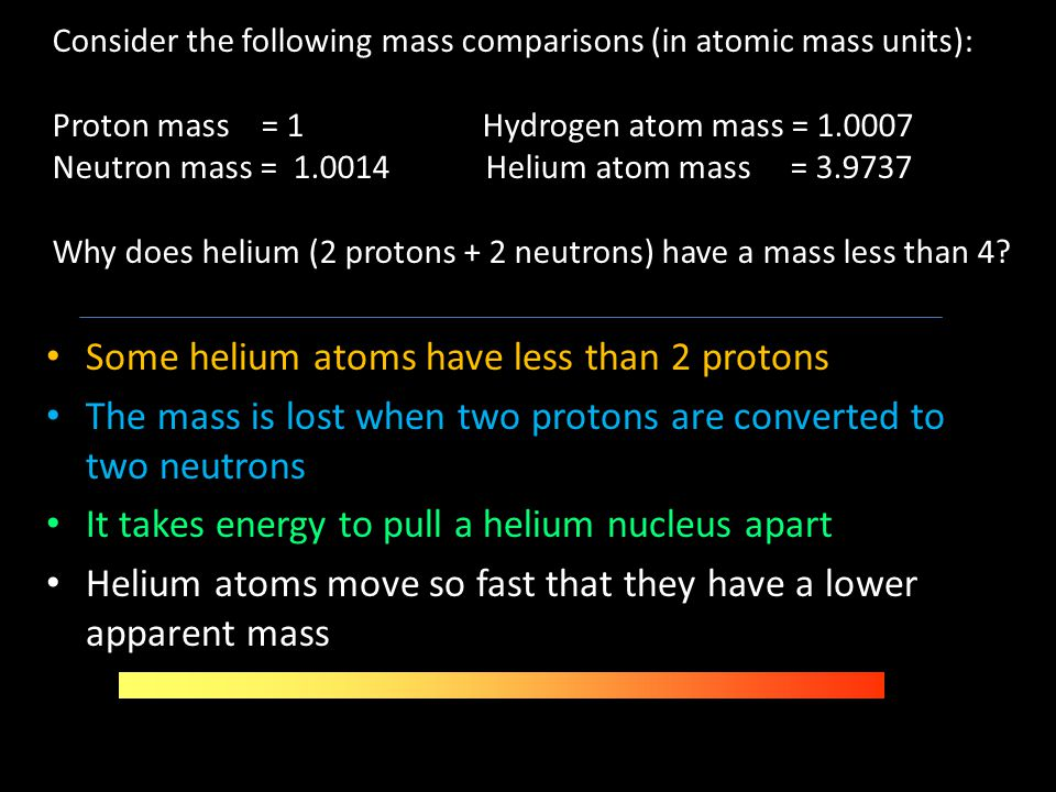 Some helium atoms have less than 2 protons