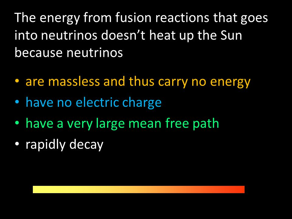 The energy from fusion reactions that goes into neutrinos doesn't heat up the Sun because neutrinos