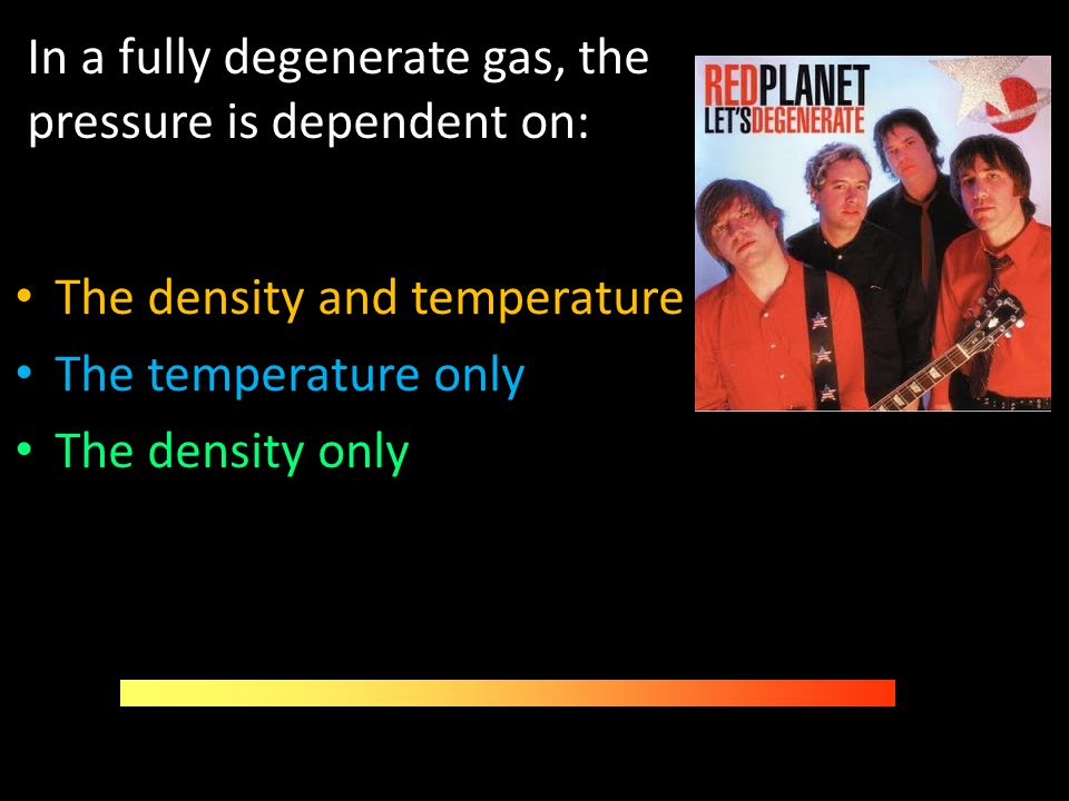 In a fully degenerate gas, the pressure is dependent on: