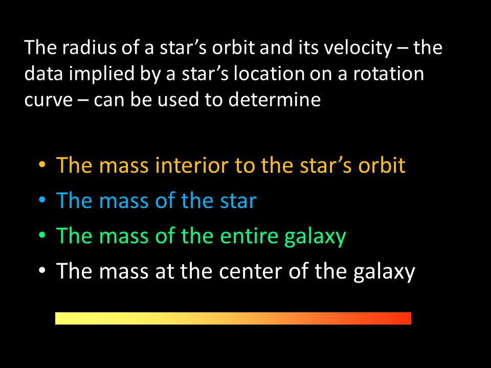 The mass interior to the star's orbit The mass of the star