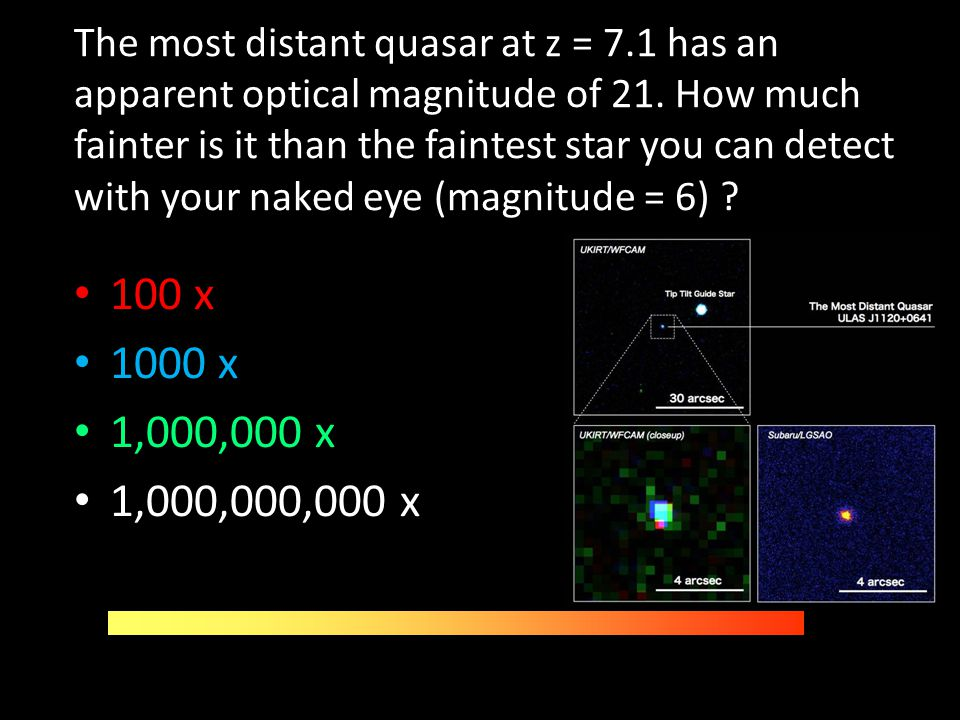 The most distant quasar at z = 7