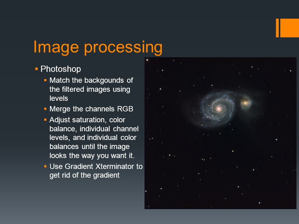 Image processing Photoshop