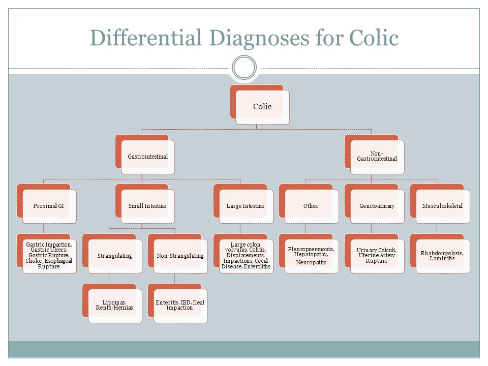 Differential Diagnoses for Colic