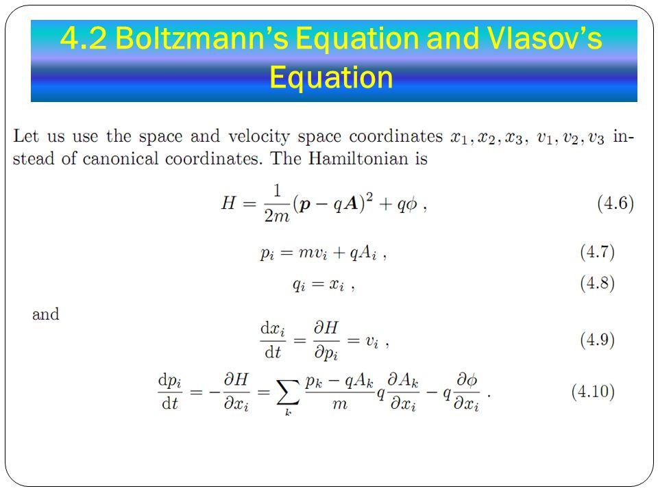 4.2 Boltzmann's Equation and Vlasov's Equation