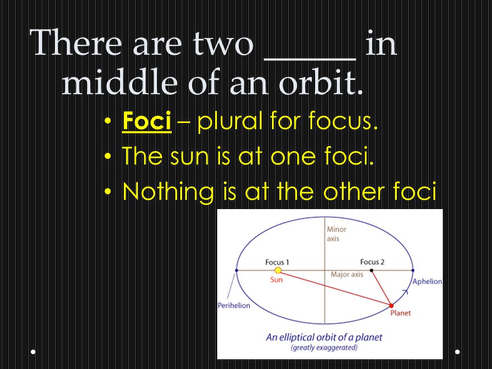 There are two _____ in middle of an orbit.