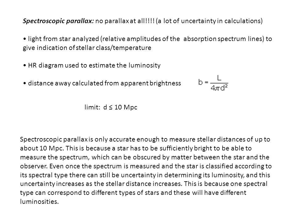 Spectroscopic parallax: no parallax at all