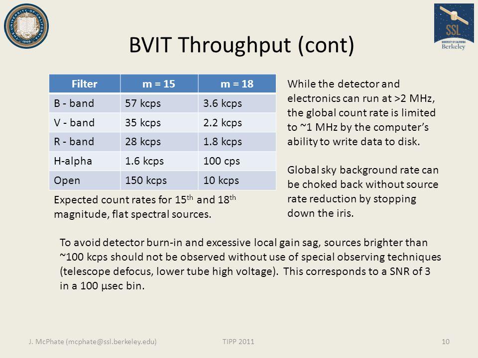 BVIT Throughput (cont)