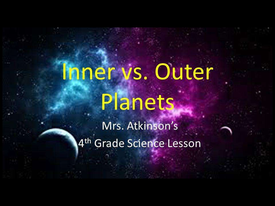Mrs. Atkinson's 4th Grade Science Lesson