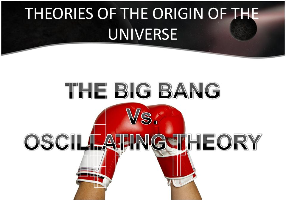 THEORIES OF THE ORIGIN OF THE UNIVERSE