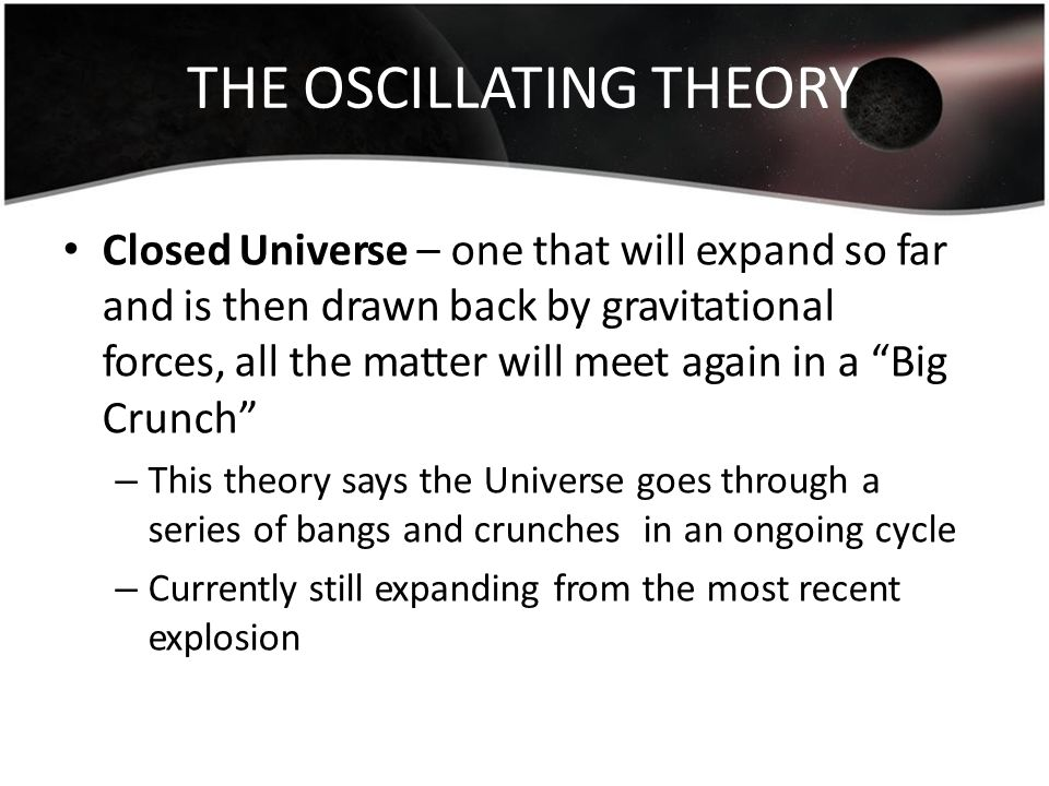 THE OSCILLATING THEORY