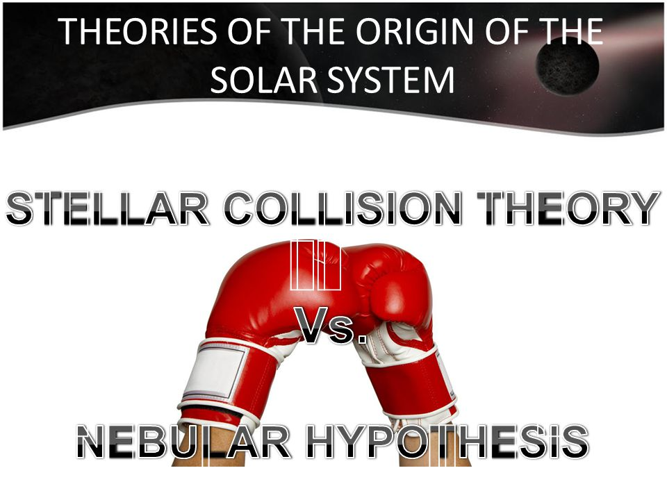 THEORIES OF THE ORIGIN OF THE SOLAR SYSTEM