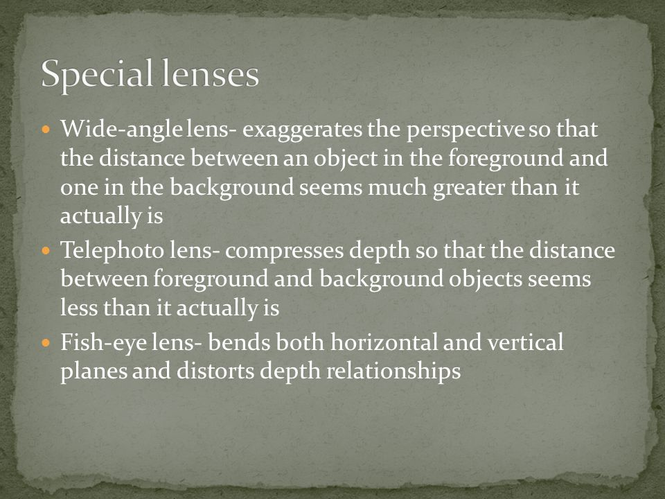 Special lenses