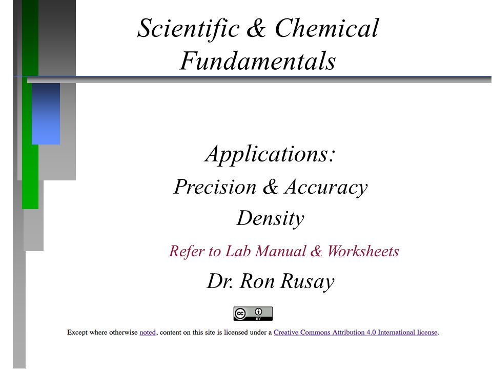 Scientific & Chemical Fundamentals