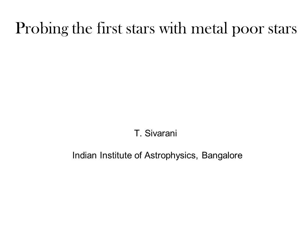 Probing the first stars with metal poor stars