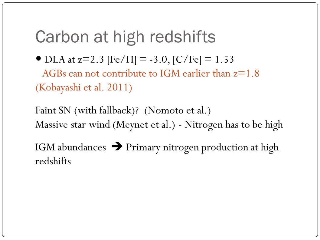 Carbon at high redshifts