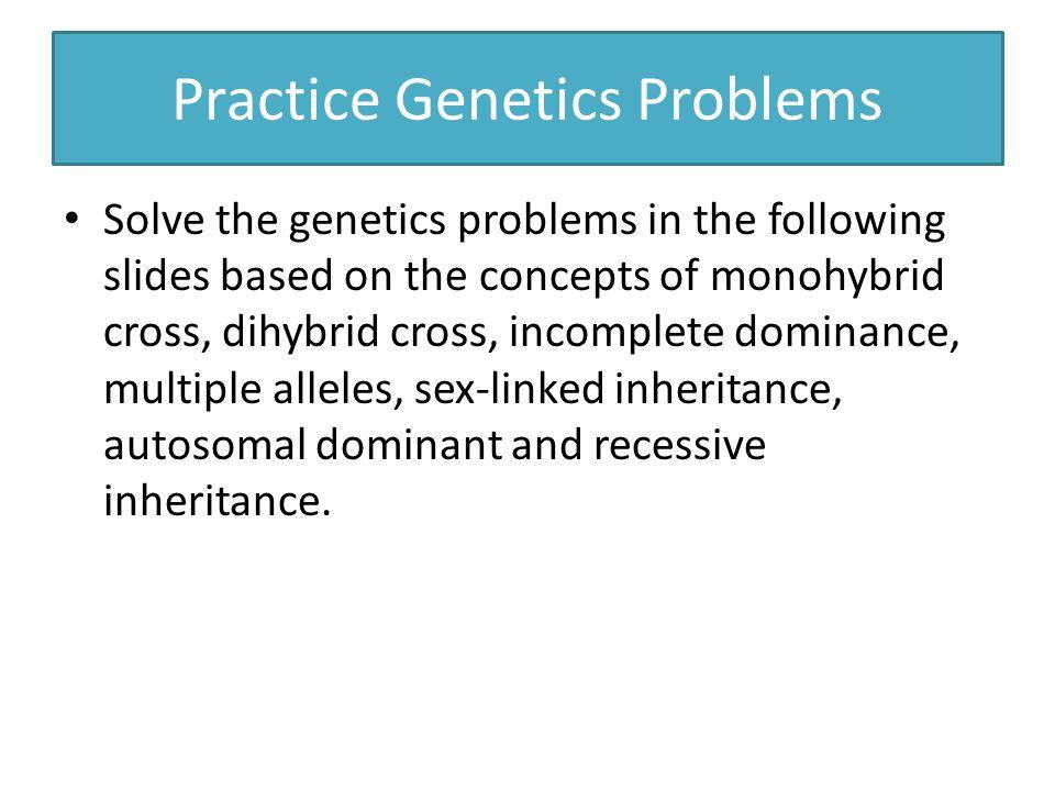 Practice Genetics Problems