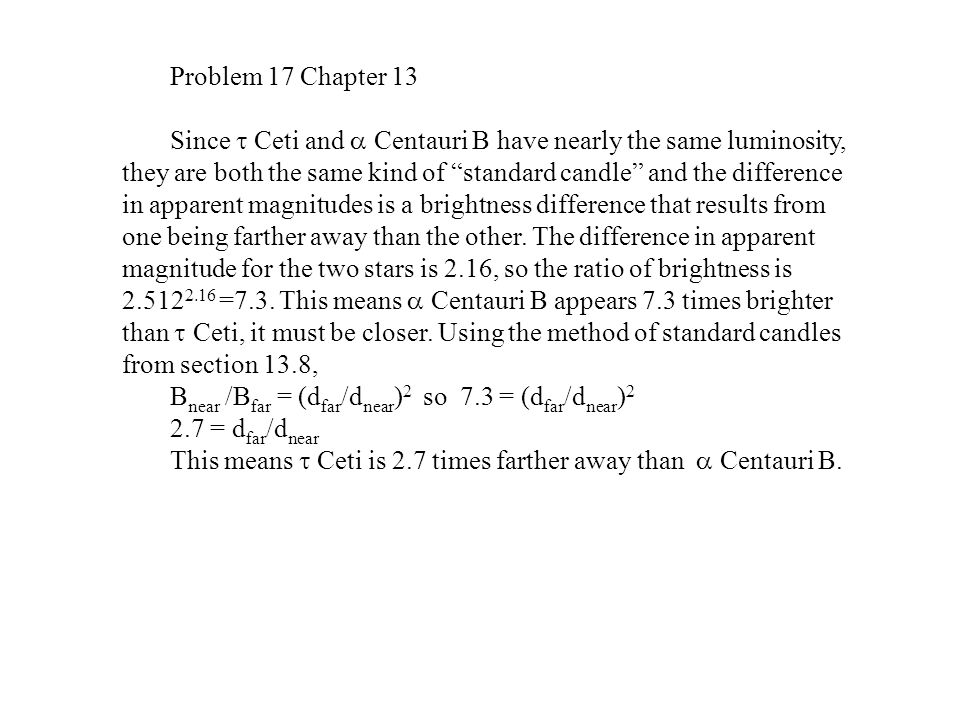 Problem 17 Chapter 13