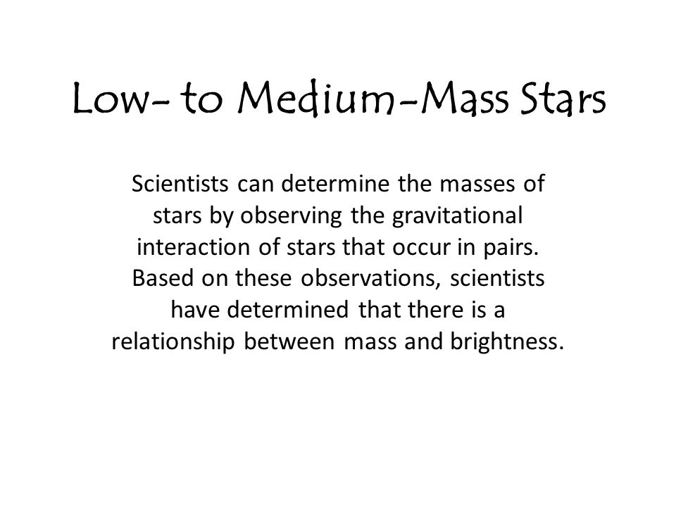 Low- to Medium-Mass Stars